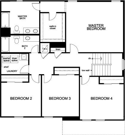 Plan 2566 Second Floor