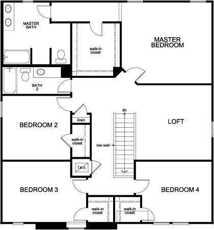 Plan 2716 Second Floor