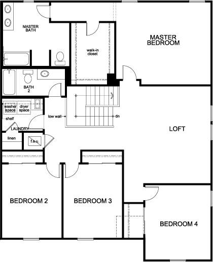 Plan 3016 Second Floor